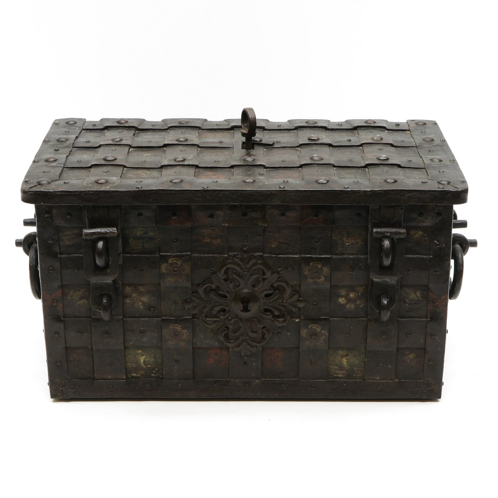 18th Century Cast Iron Money Box