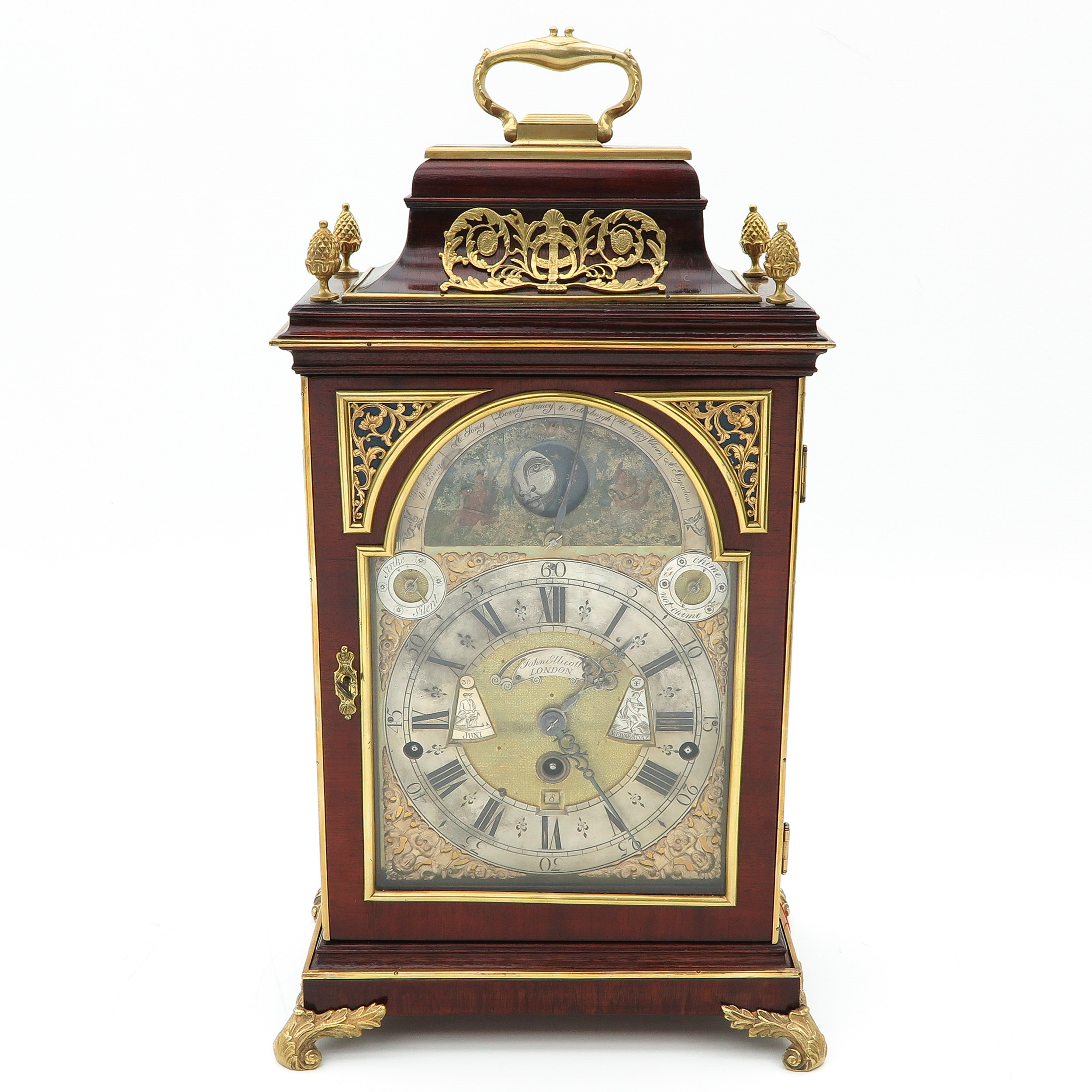 A Signed English Table Clock