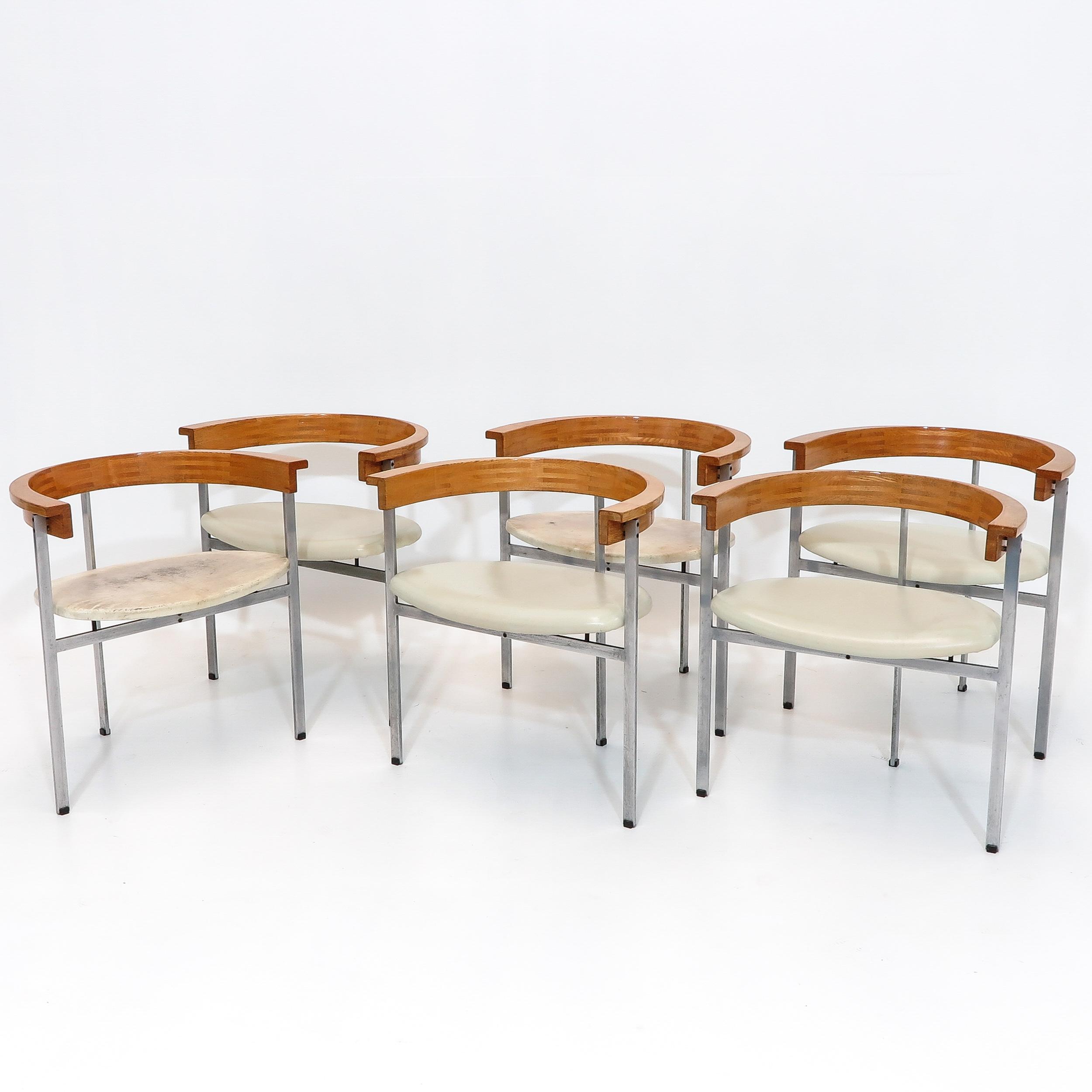 A Set of Six Very Rare Designer Poul Kjaerholm Chairs