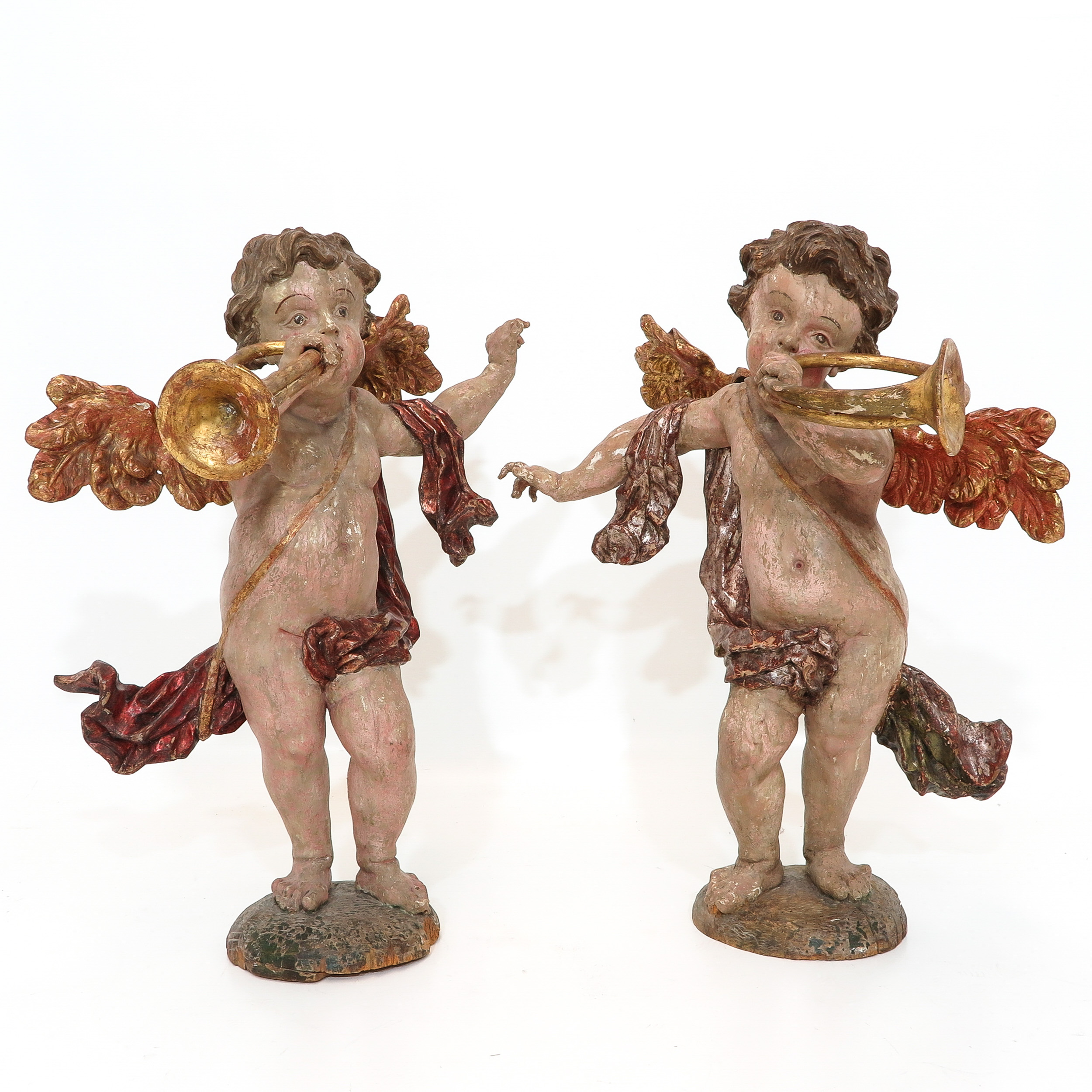 A Very Rare Pair of 18th Century Baroque Angels