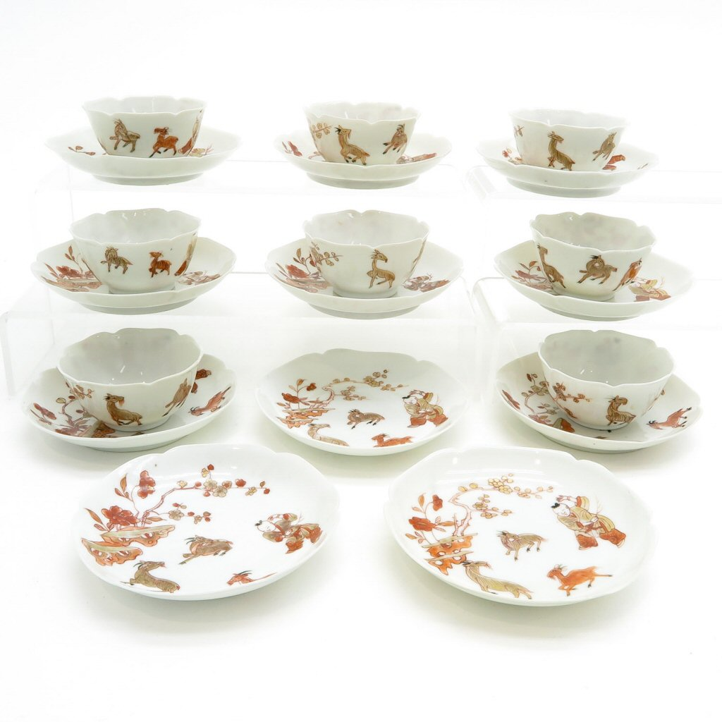 Lot of China Porcelain 18th Century Cups & Saucers