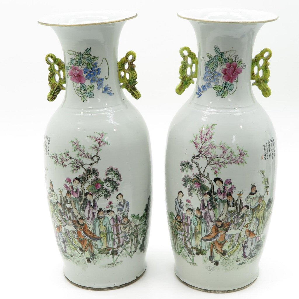 Lot of 2 19th Century China Porcelain Vases
