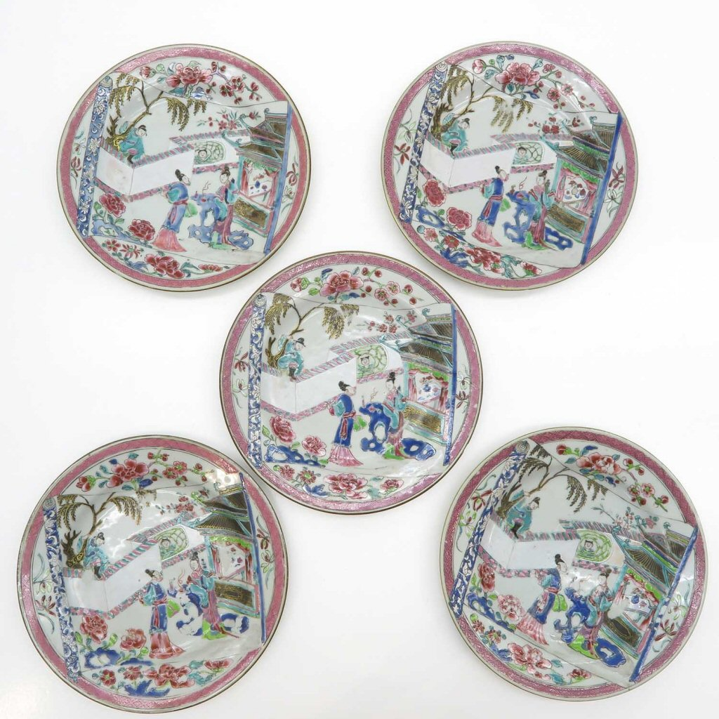 Lot of 5 China Porcelain Plates