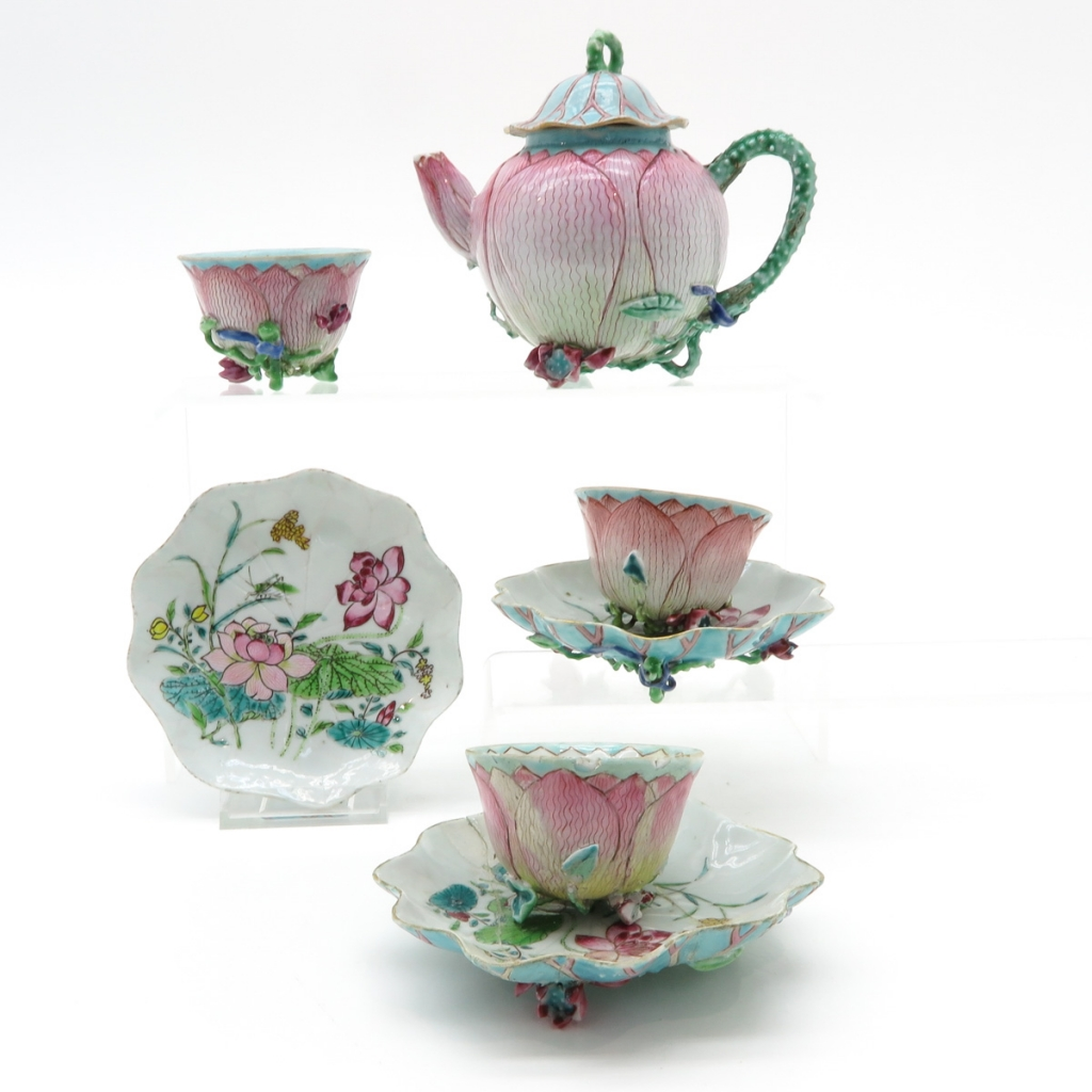 Diverse Lot of China Porcelain Yongzheng Tea Set