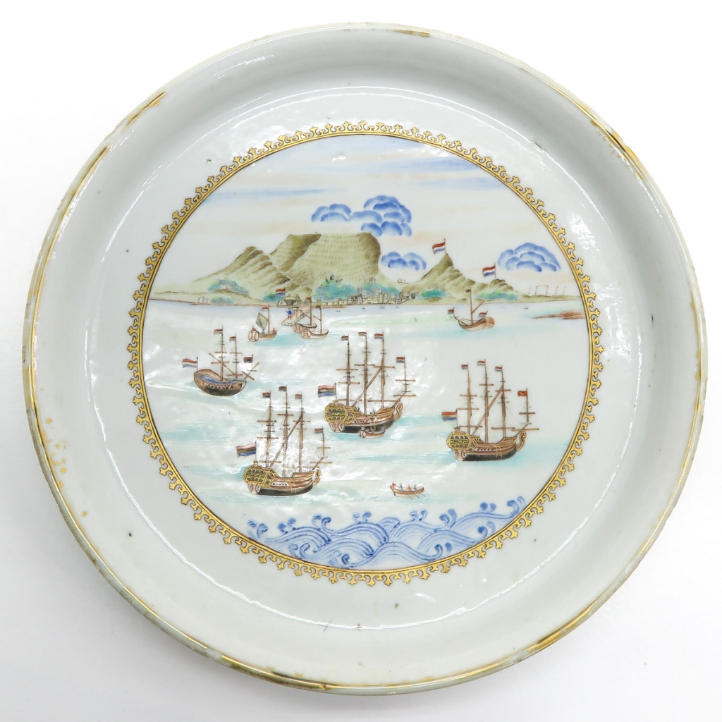 18th Century Chine de Commande Decor Plate