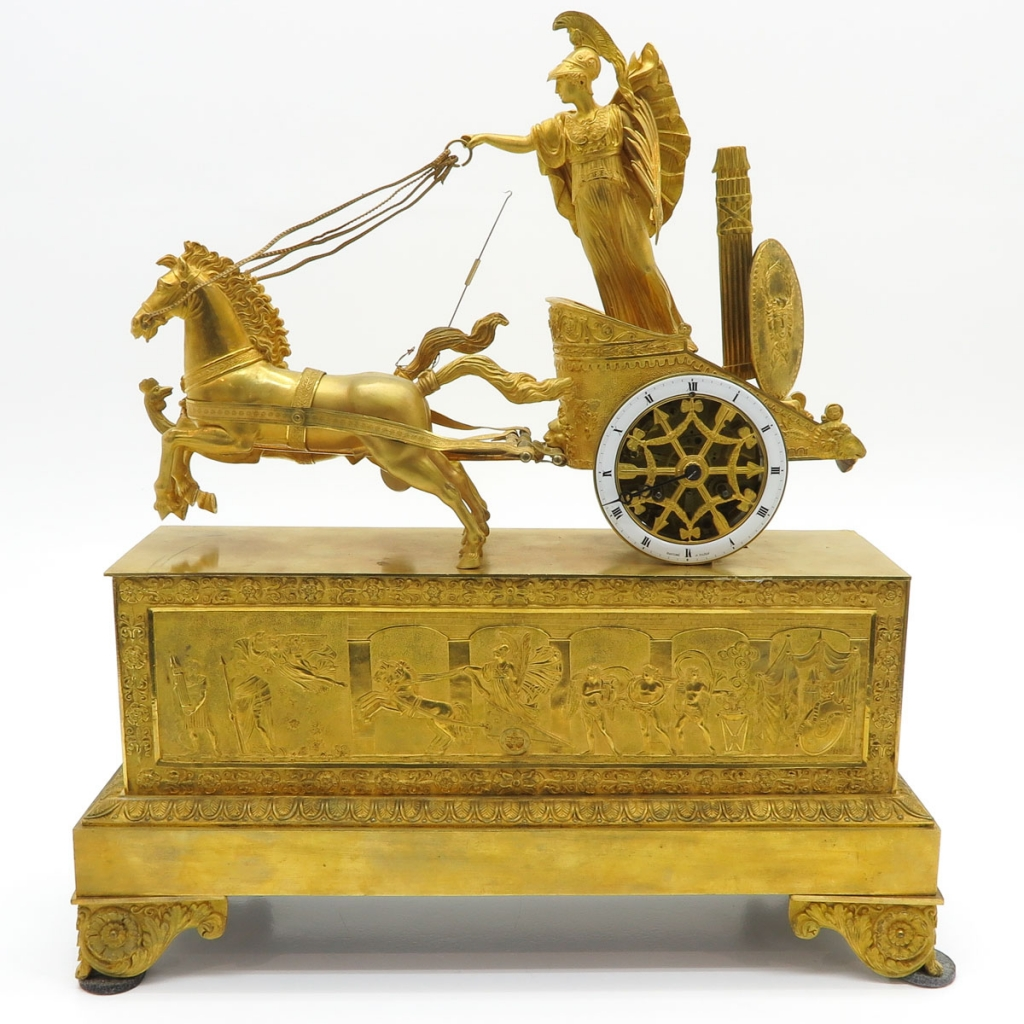 French Ormolu Empire Clock